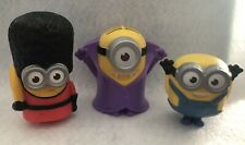 Set Of 3 Mc Donald's Minions Toys 2015 Collection