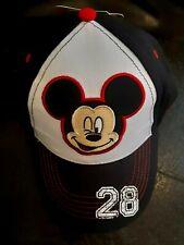 DISNEY MICKEY MOUSE CHILDRENS Black White ADJUSTABLE BASEBALL CAP