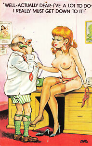 Rude Comic Series Bamforth Postcard - Sex In Office - Vintage #1048 Funny.