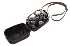 Leather Soft Rolleiflex Rolleicord Case - Available in Black or Brown