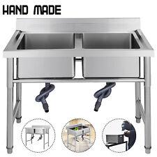 Lavello cucina acciaio inox 100 X 60 CM Commerciale Gocciolatoio Mobile HOT