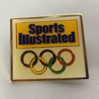 Sports Illustrated Pin Pinback Collector Gold Rings Olympic 1988 Seol