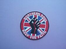 MOD SCOOTER SKA SOUL SEW ON & IRON ON PATCH:- NORTHERN SOUL (a) KEEP THE FAITH