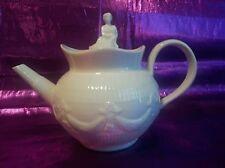 GODINGER TEA POT  FINIAL OFF WHITE .