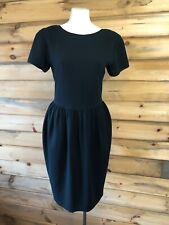 VINTAGE 80's Liz Claiborne CLASSIC BLACK POUF STYLE DRESS Size 6