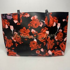 Victoria's Secret Limited Edition 2019 Large Red Floral Rose Tote Bag FREE SHIP