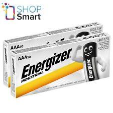20 ENERGIZER AAA BATTERIES INDUSTRIAL ALKALINE LR03 1.5V MICRO MN2400 AM4 E92