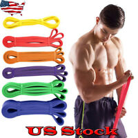 Heavy Duty Resistance Band Loop Power Gym Fitness Exercise Workout Lose Weight