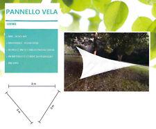 TELO Tenda Pannello Parasole Triangolare con telo poliestere beige chiaro 3x3x3