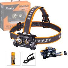 Fenix HM65R USB Charging LED Headlamp 1400LM Head Torch Spot Flood Light + 18650