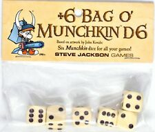 BAG O' MUNCHKIN D6 Dice 6 Munchkin Dice for All Games >NEW<
