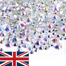 1440pcs Flat Back 3D Rhinestones AB Colorful Nail Art Decoration Mix Sizes Foil