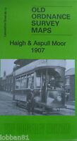 Old Ordnance Survey Maps Haigh & Aspull Moor Lancashire 1907 Godfrey Edition New