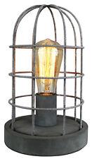 Tisch Lampe Leuchte Retro Vintage Industrie Design Loft INDUS grau transparent
