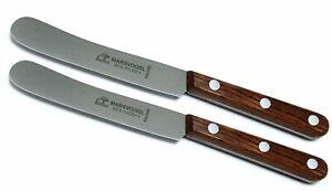 2 Stück Buckelsmesser Frühstücksmesser Buckels Messer Bubinga Marsvogel Solingen