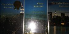 PAUL AUSTER 3 VOLUME SET *FIRST EDITION*