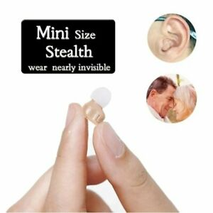 Invisible Mini In Ear Digital Hearing Deaf Aid Sound Voice Amplifier Enhancer