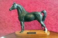 "Stunning Beswick pottery Horse Black Morgan Stallion "" Tarryall Maestro ''"