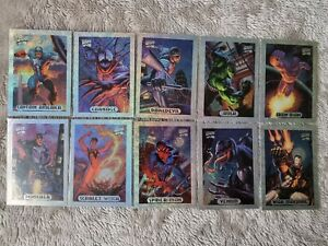 Marvel Masterpieces 1994 Limited Edition Holofoil Complete Set of 10