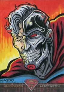 DC Superman The Legend Sketch Card By Mark Nasso