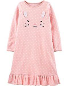 New Carter/'s Princess Castle Dragon Long Sleeve Nightgown Nightshirt Girls Pink