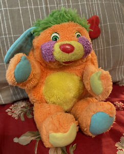 "Vintage 1986 Mattel Popples Puzzle 11"" Stuffed Plush Toy w/ Pocket TCFC Orange"
