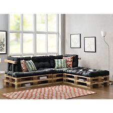 """[en.casa]® """"Canapé d'angle en palettes"""" 3x Coussin de siège-/ 5x dossier gris"""