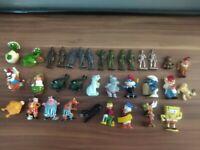 80er lot vintage Üei Sammlung Kinder Überraschung Ei Figuren Metall Hartplastik