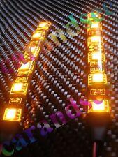 2 MINI BANDE LED A 6 LED JAUNE AMBRE 10CM SMD5050 12 VOLTS