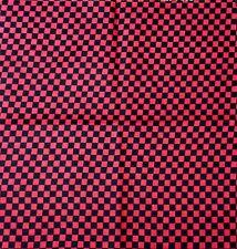 100% Cotton Black Red Chess Board Design Bandanna Head Wear Bands Scarf Neck