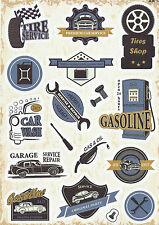"""Sticker Decal Sticker Set """" Garage-Mix """" (8) - Ideal For Stickerbom, Laptop"""