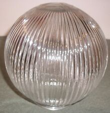 "NEW Replacement Clear Ribbed Glass 6 Inch Globe with 3 1/4"" Fitter opening"