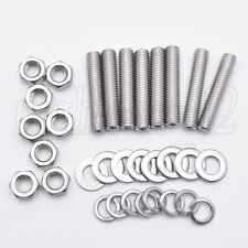 M8x40 STAINLESS STEEL Exhaust Manifold Studs Nuts Washers Replacement Kit 8pcs