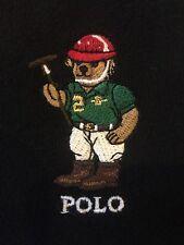 Polo Ralph Lauren SIZE M Black Bear Full Zip Jacket Hooded Sweat shirt Hoodie