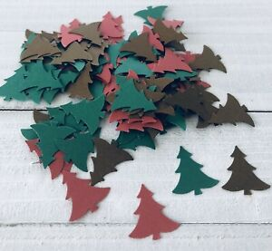 Christmas Tree Confetti - Holiday Party Table Confetti - 100 Count