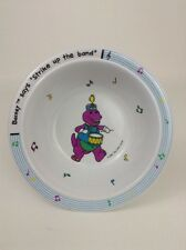 """The Lyons Group Barney The Dinosaur Says """"Strike up the Band"""" Bowl"""