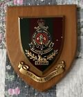 Vintage THE KINGS REGIMENT plaque Shield