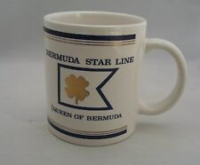 Ss Queen of Bermuda Star Line Cruises Ship Coffee Mug Cup Shamrock