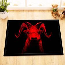 Horror Surrealism Goat Non-Slip Home Decor Kitchen Bathroom Carpet Door Mat Rug