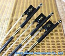 5 pcs professional black Carbon fiber violin bows 4/4 new bow FREE SHIPPING