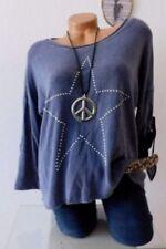 Locker sitzende Damenblusen, - Tops & -Shirts in Größe 38 mit Sterne