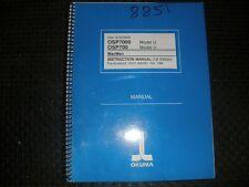 Okuma Cnc Osp7000 & 700 Model U Control Mac Man Instruction Manual