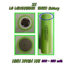 2x LG 18650 800mAh Lithium HighDrain Craftsman Battery Cell Priv V8 LGDAHA11865A