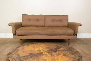 Vintage Retro Mid Century 2 Seater Daybed Sofa Bed