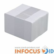 100 X Vuoti Bianco Pvc Plastica Schede cr-80 30mil per tutte le stampanti ID