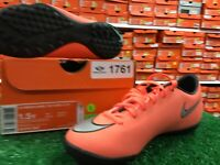 New Nike Jr Mercurial Victory V TF Soccer Turf Shoes Peach / Silver Size 1.5y
