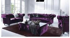 designer Sofagarnitur 3+2+1 Textil Sofa Couch Chesterfield Polster Garnitur Neu