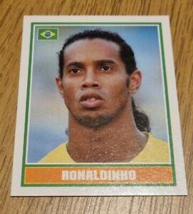 Rare Merlin England World Cup 2006 Ronaldinho Brazil football Sticker #339