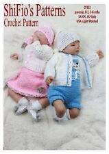 Crochet Pattern for Baby Jacket Romper Dress Boy Girl #323 This Is Not Clothes