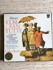 MOZART: Cosi Fan Tutte, Colin Davis, 4 LP Box Set Philips Import NM/EX